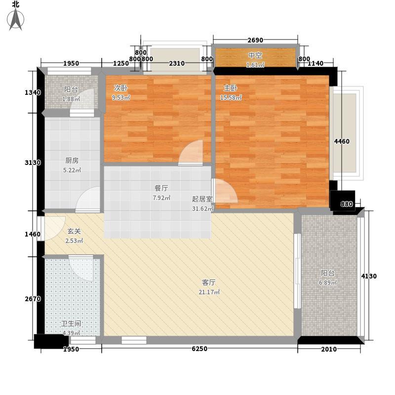 东海嘉园84.28㎡C塔11-32层052面积8428m户型