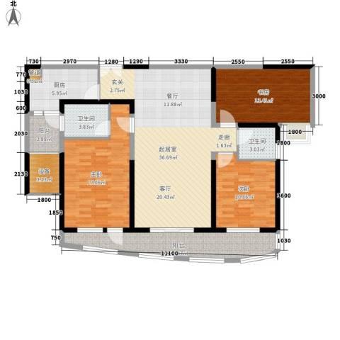 成都大魔方3室0厅2卫1厨141.00㎡户型图