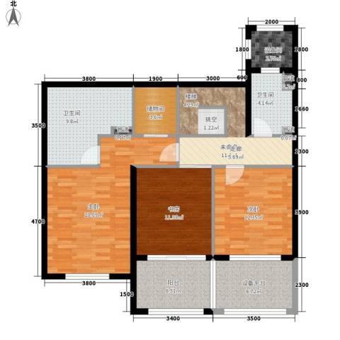 五琴花园3室0厅2卫0厨129.00㎡户型图