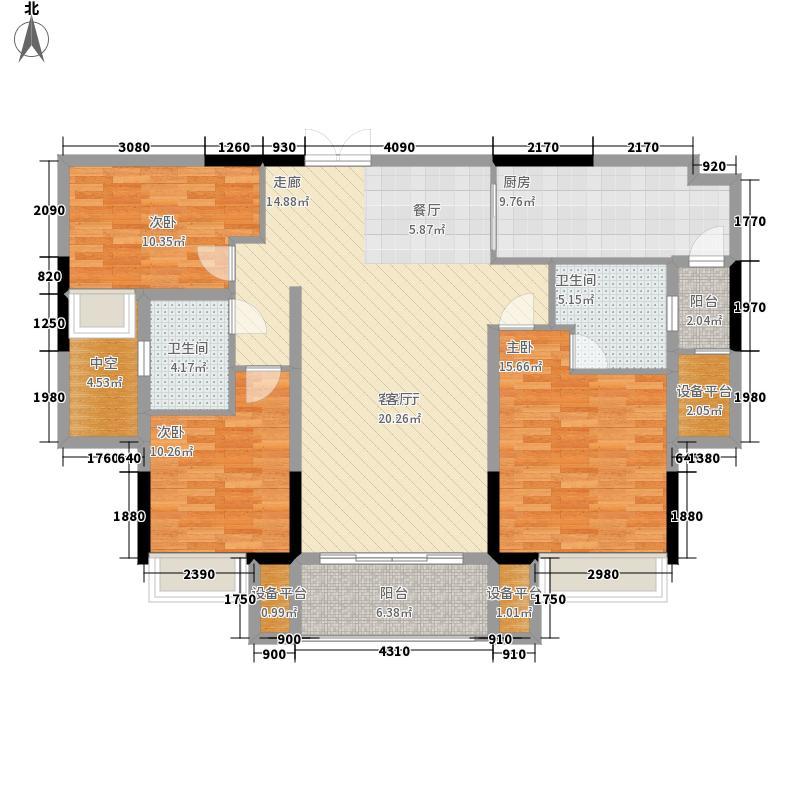 珠江都荟126.34㎡A3栋2层02单位面积12634m户型