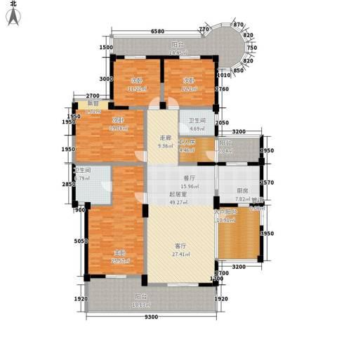 盛南领地4室0厅2卫1厨211.00㎡户型图