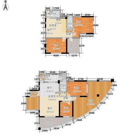 盛南领地4室0厅3卫1厨214.00㎡户型图