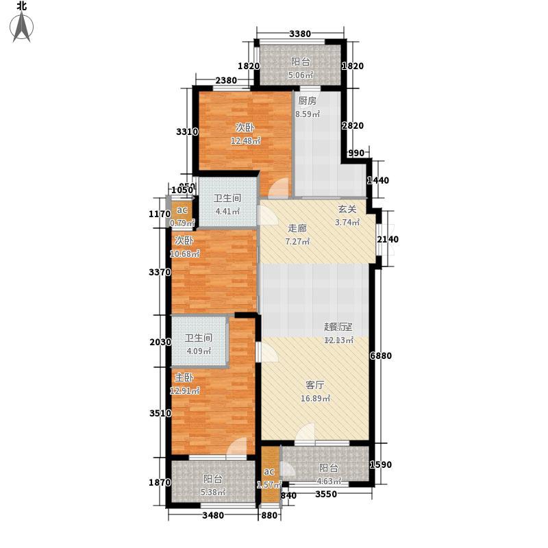 福荣园126.00㎡户型2室2厅