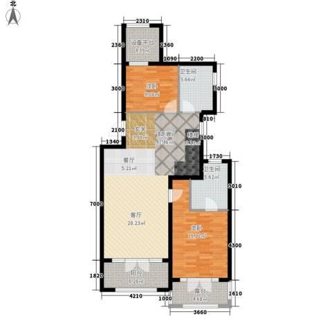 五琴花园2室1厅2卫0厨130.00㎡户型图