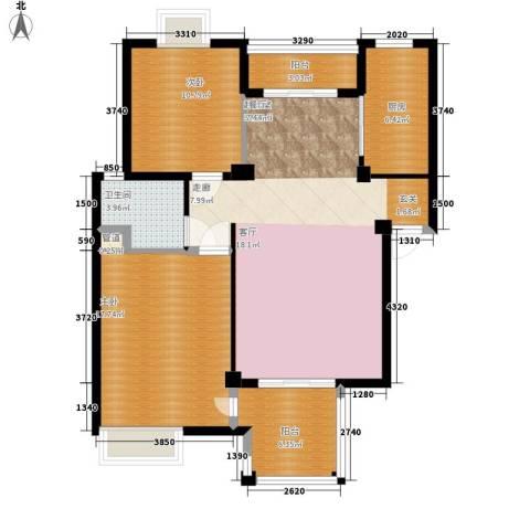 万科四季花城2室0厅1卫1厨118.00㎡户型图