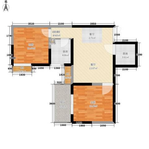 紫云溪2室0厅0卫2厨80.00㎡户型图