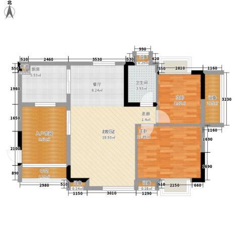 华南碧桂园别墅2室0厅1卫1厨87.00㎡户型图