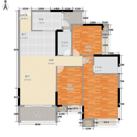 越秀上品轩3室0厅2卫1厨137.00㎡户型图