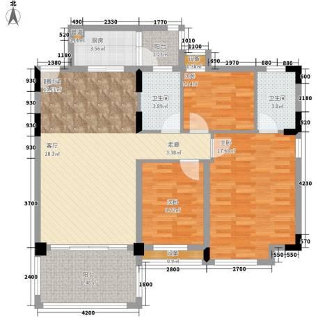 华南碧桂园别墅3室0厅2卫1厨108.00㎡户型图