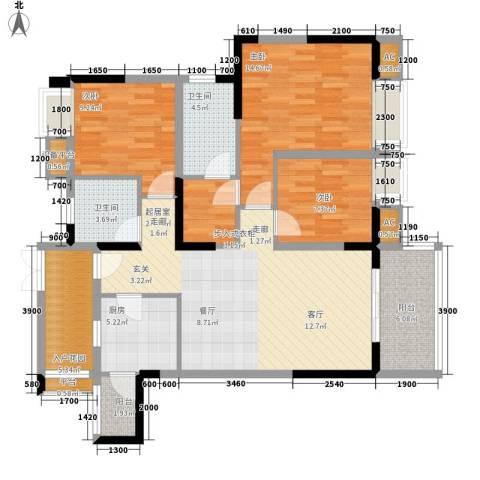 航天城上城3室0厅2卫1厨116.00㎡户型图