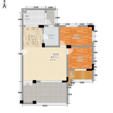 华南碧桂园别墅2室0厅1卫1厨92.00㎡户型图
