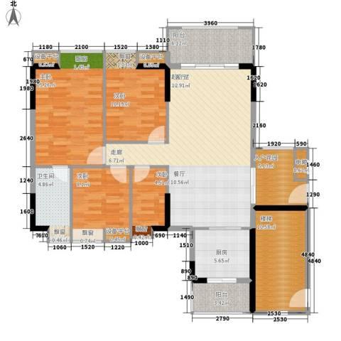 保利国际广场4室0厅1卫1厨120.00㎡户型图
