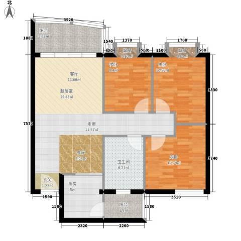 花都阳光家园3室0厅1卫1厨89.00㎡户型图
