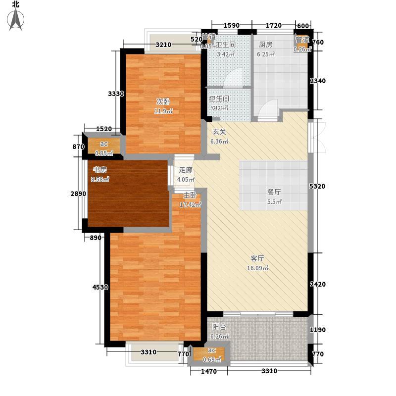 颐和府邸104.00㎡高层B22+户型3室2厅