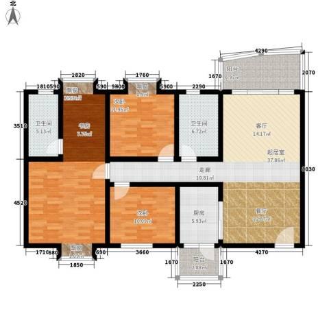 花都阳光家园3室0厅2卫1厨131.00㎡户型图