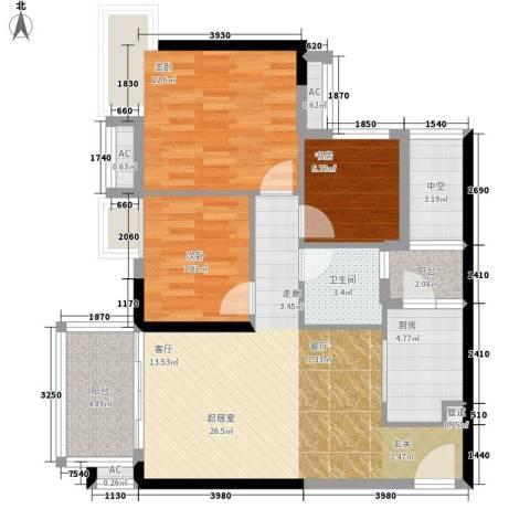 云景名都3室0厅1卫1厨106.00㎡户型图