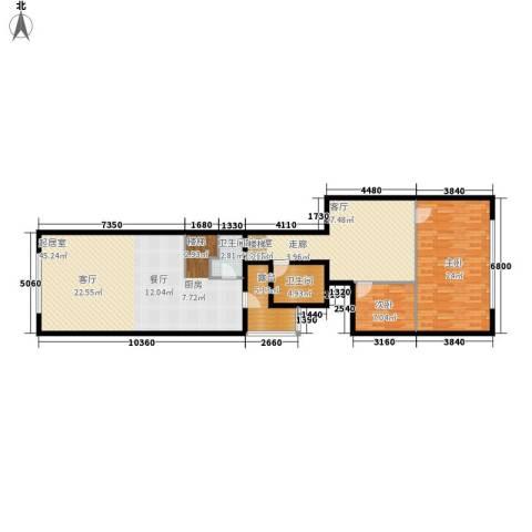思罕国际复式公寓2室0厅2卫0厨124.00㎡户型图