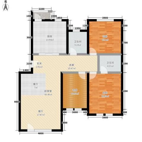 泰和尚都3室0厅2卫1厨137.00㎡户型图