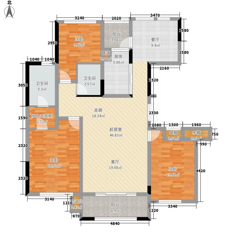 城泰湖韵天成135.00㎡城泰湖韵天成户型图高层3#楼(5/5张)户型3室2厅2卫