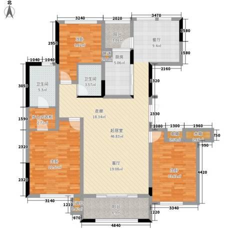 城泰湖韵天成3室0厅2卫1厨135.00㎡户型图