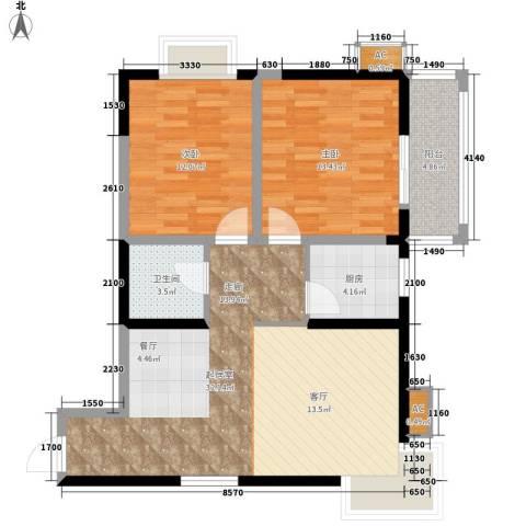 和平花园2室0厅1卫1厨96.00㎡户型图