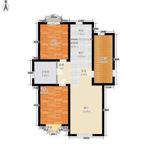 汇豪天下2室0厅1卫1厨131.00㎡户型图
