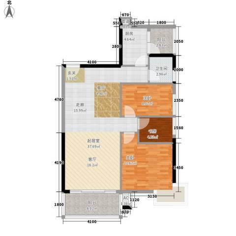 云景名都3室0厅1卫1厨112.00㎡户型图