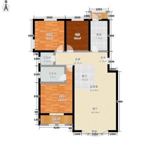 泰和尚都3室0厅2卫1厨136.00㎡户型图