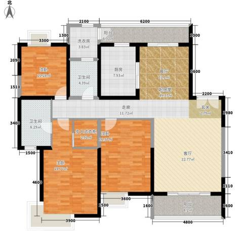 紫薇永和坊3室0厅2卫1厨182.00㎡户型图
