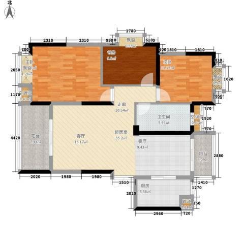 香缇溪岸3室0厅1卫1厨112.00㎡户型图