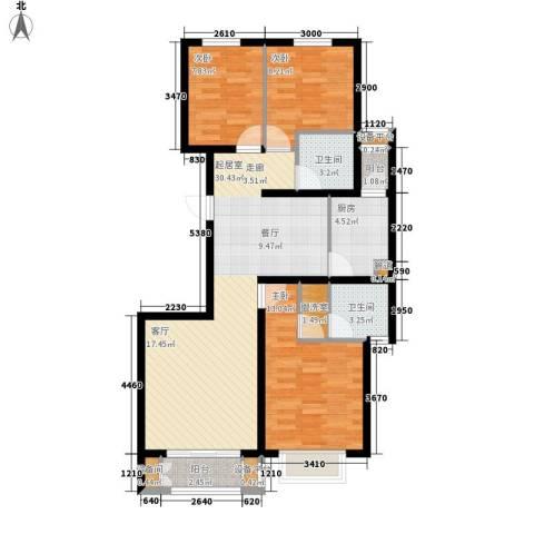 锐点嘉苑3室0厅2卫1厨114.00㎡户型图