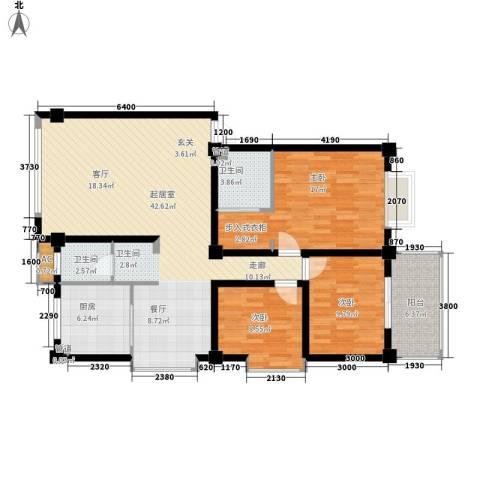 泰时・三湘金地3室0厅2卫1厨140.00㎡户型图