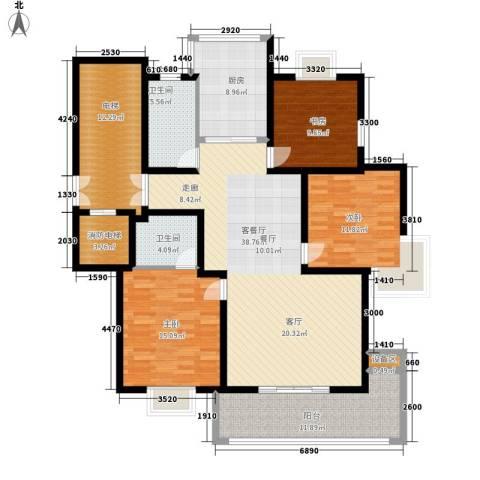 四季阳光花园3室1厅2卫1厨141.00㎡户型图