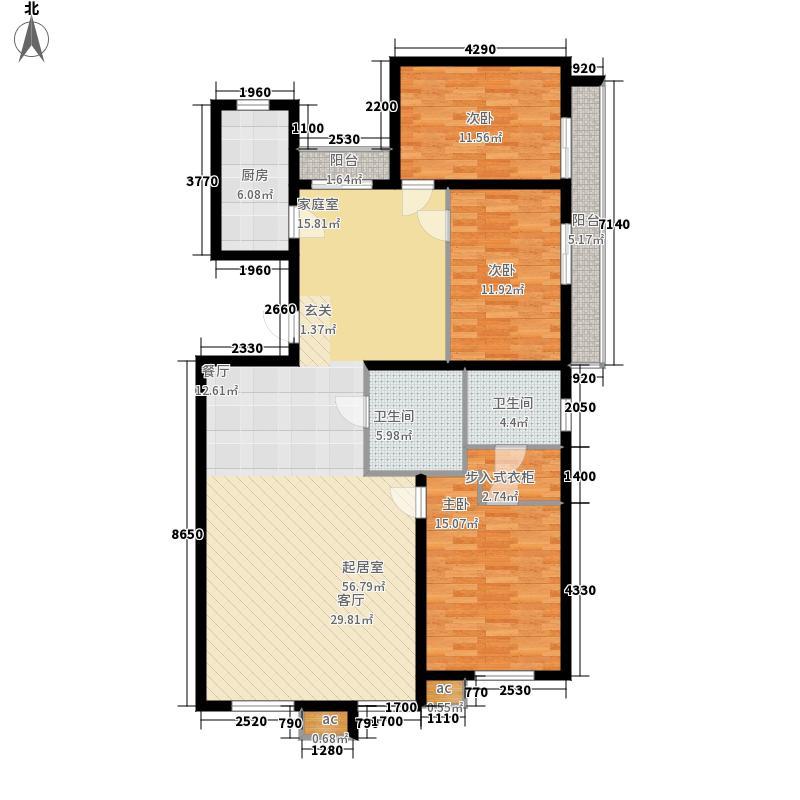 中海锦绣城138.28㎡中海锦绣城户型图F2-4(1/1张)户型10室