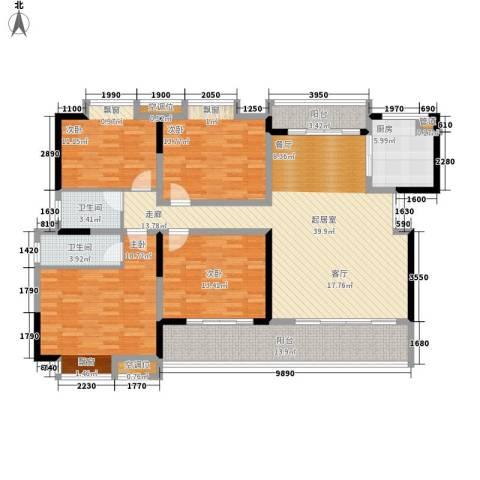 香缇溪岸4室0厅2卫1厨149.00㎡户型图