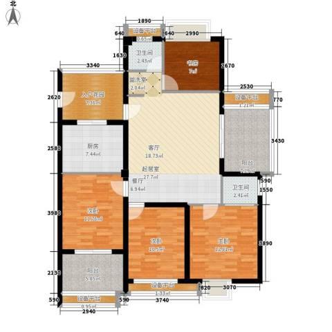 华亚海岛假日4室0厅2卫1厨108.00㎡户型图