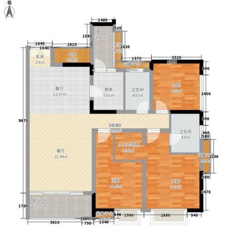 天悦府3室0厅2卫1厨135.00㎡户型图