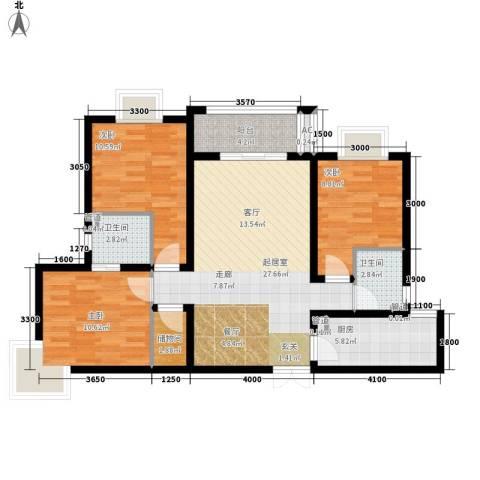 祥和雅居3室0厅2卫1厨88.29㎡户型图