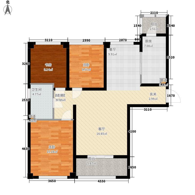 望湖公寓106.00㎡A1户型3室2厅