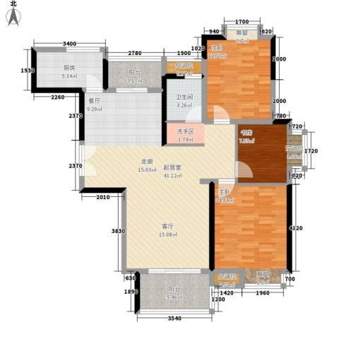 香缇溪岸3室0厅1卫1厨108.00㎡户型图