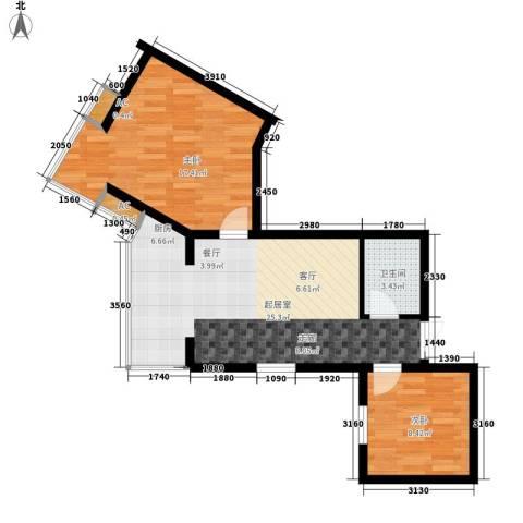 美立方2室0厅1卫0厨78.00㎡户型图