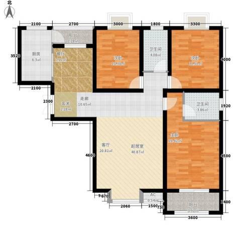祥和雅居3室0厅2卫1厨114.95㎡户型图