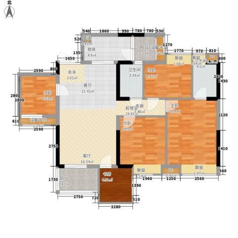 时代花生Ⅱ5室0厅2卫1厨123.00㎡户型图