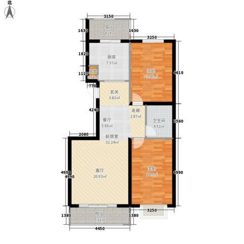 安联水晶城2室0厅1卫1厨93.00㎡户型图
