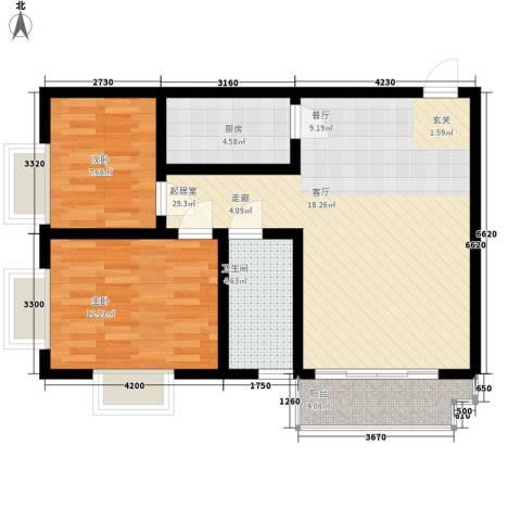 电子城教育局小区2室0厅1卫1厨85.00㎡户型图