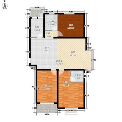 安联水晶城3室0厅2卫1厨123.00㎡户型图