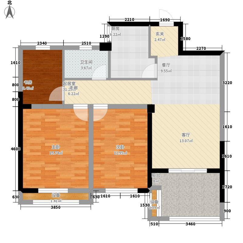 圣联梦溪小镇99.00㎡2#05户型3室2厅
