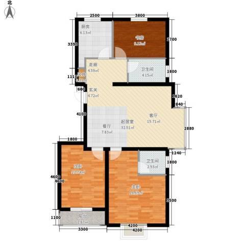 安联水晶城3室0厅2卫1厨114.00㎡户型图