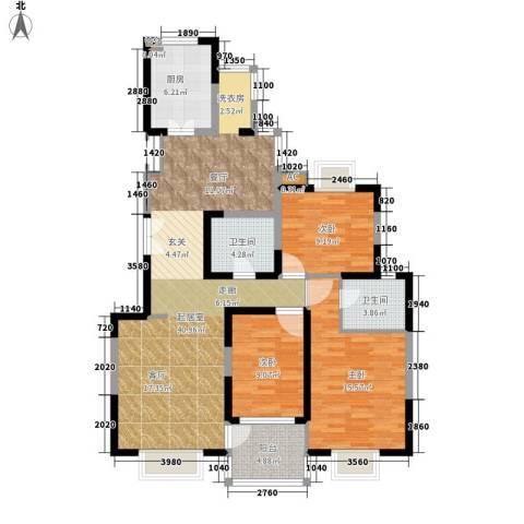 曲江兰亭3室0厅2卫1厨109.00㎡户型图