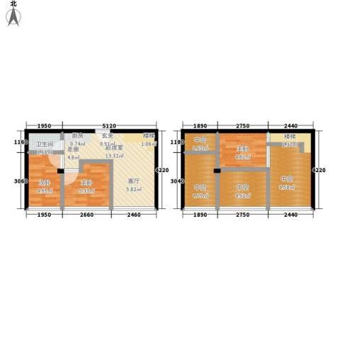 芒果公寓3室0厅1卫0厨60.00㎡户型图